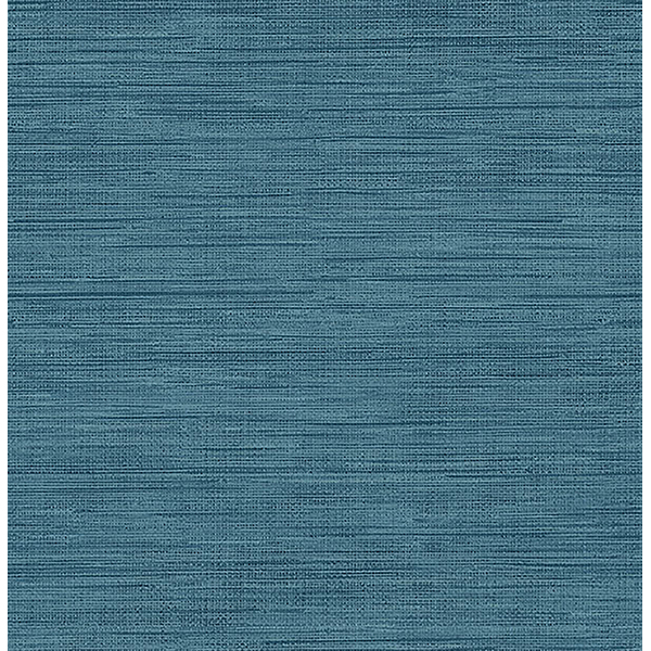 Brewster Sea Grass Blue Faux Grasscloth Wallpaper