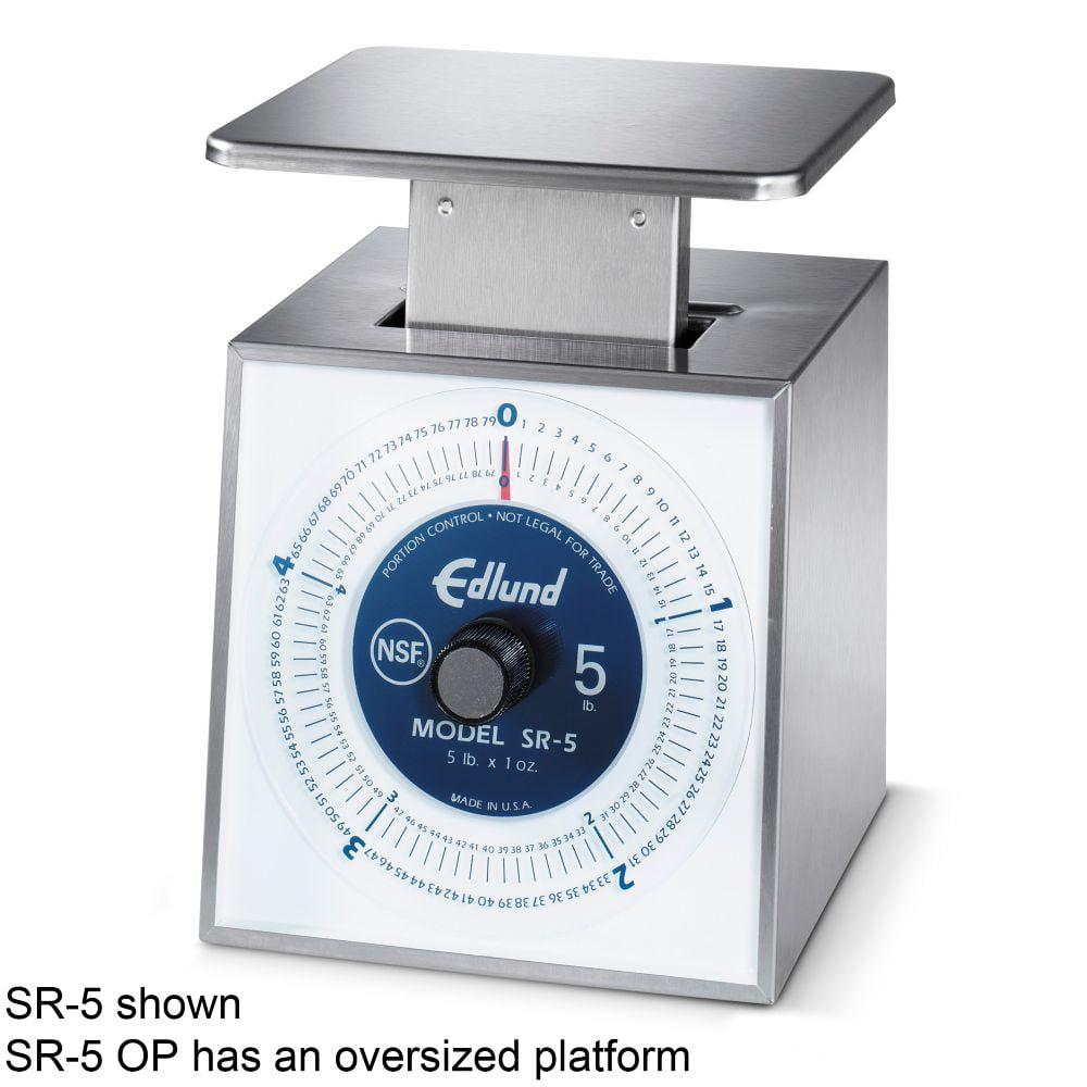 Edlund SR-5 OP Premier Rotating Dial 5 lb Portion Scale with Platform