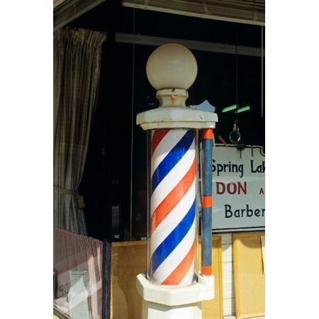 Marvy Barber Pole Two Light (Barber Pole Spring Lake New Jersey Usa Stretched Canvas - Vintage Images () )