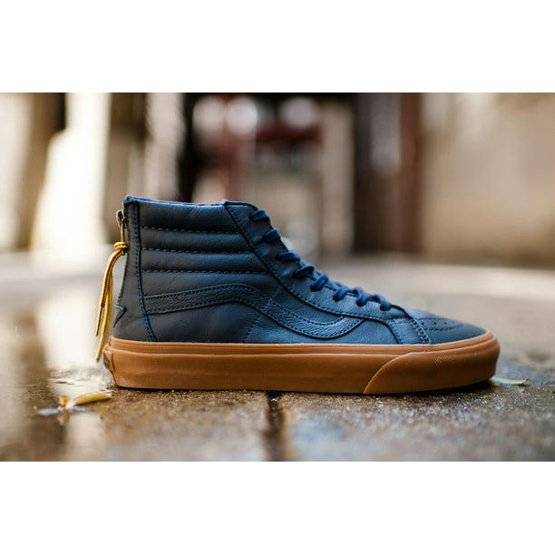 Vans SK8 Hi Reissue Zip Hiking Navy/Gum Men's Classic Skate Shoes Size 11