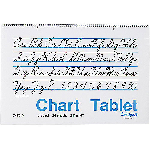 Pacon Chart Tablets, Unruled, White, 25 Sheets/Pad