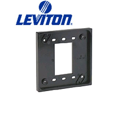 Leviton 3254-GY 4-In-1 Quad Receptacle Adapter Plate - Gray