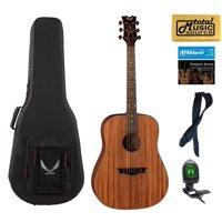 Dean Guitars Axs Series Dreadnought Acoustic Guitar, Mahogany Finish, AX D MAH  LLPACK Case Bundle