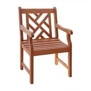 Outdoor Eucalyptus Wood Arm Chair