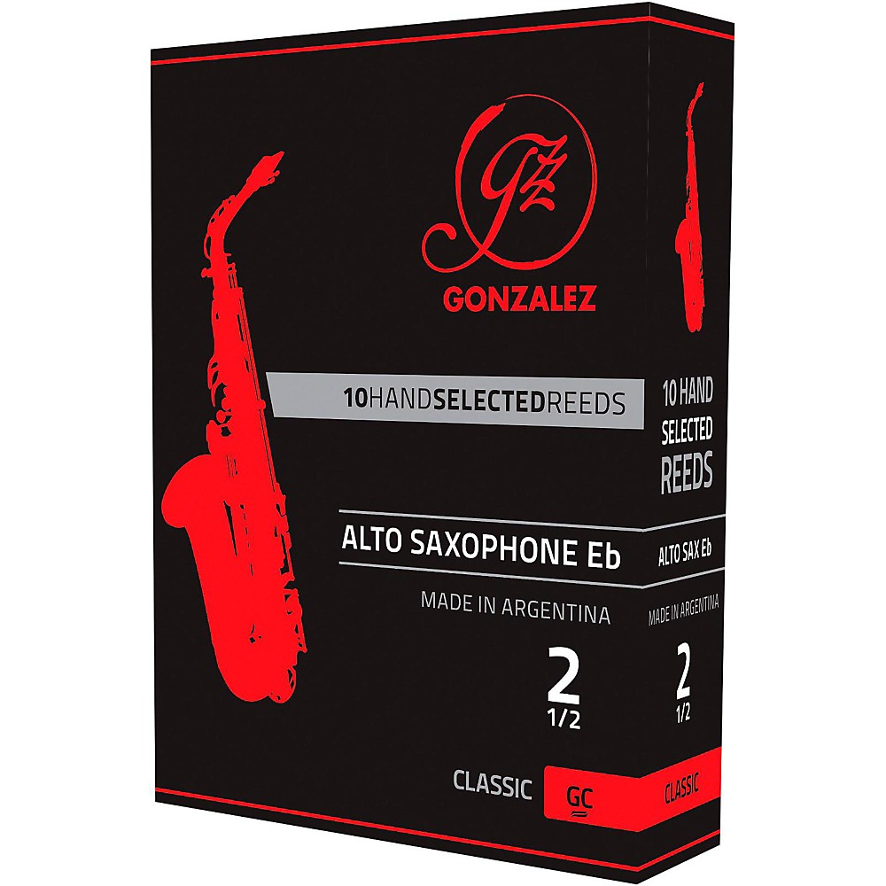 Gonzalez Classic Alto Saxophone Reeds Box of 10 Strength 2.5