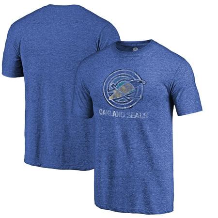 Oakland Seals Fanatics Branded Throwback Vintage Logo Tri-Blend T-Shirt - (Oakland Seals)