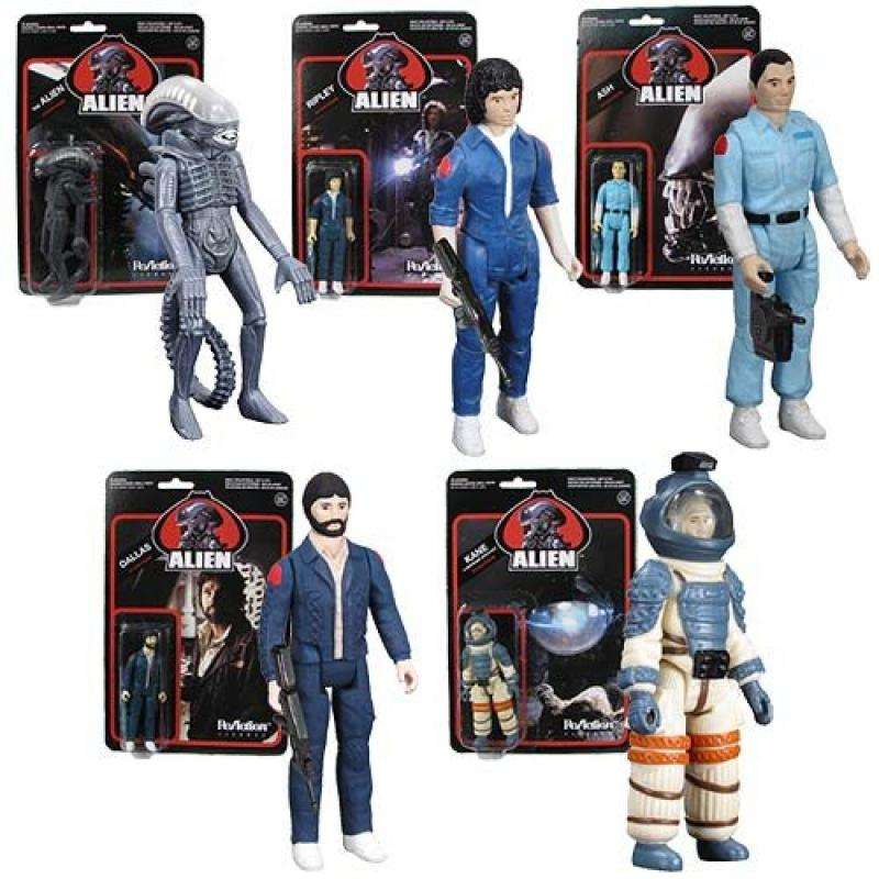 Alien 3 3 4-Inch ReAction Figures Set by