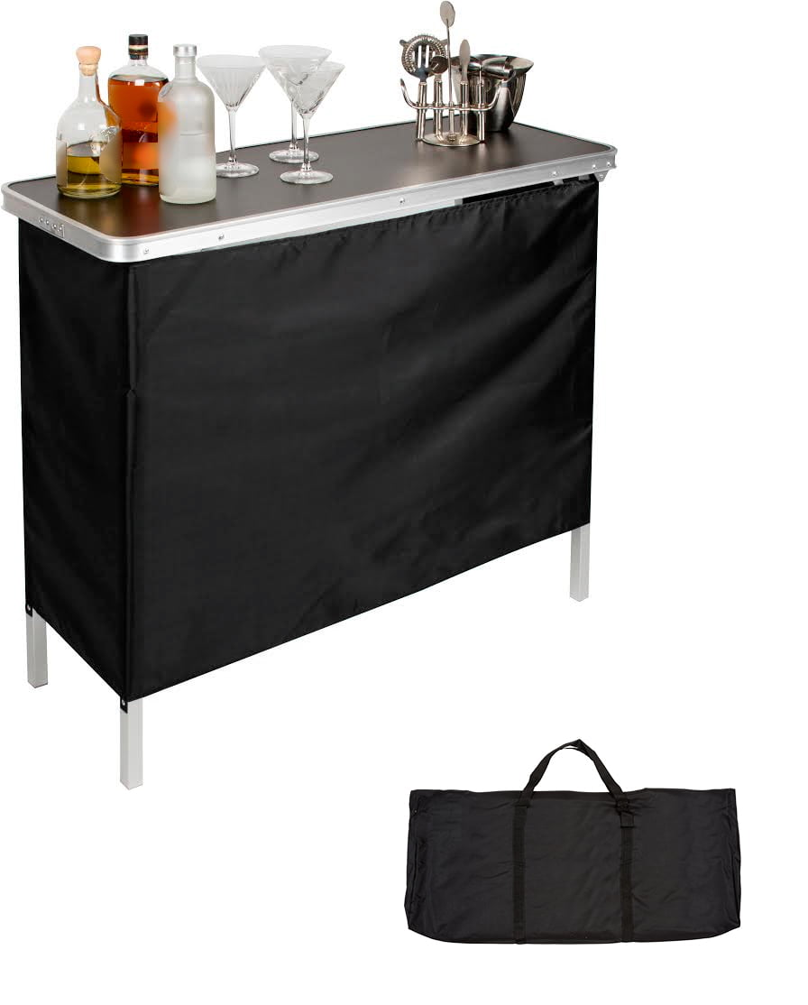 25 Mini Home Bar And Portable Bar Designs Offering: Two Skirts And Carrying Case Included