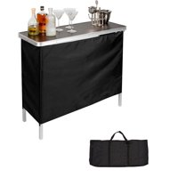 """Portable Bar Table - Carrying Case Included - 39""""L x 15""""W x 35""""H By Trademark Innovations"""