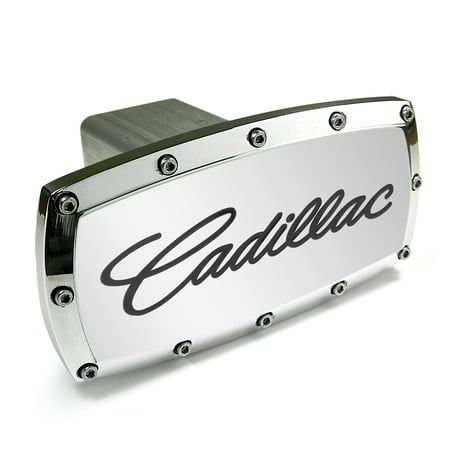 - Cadillac Engraved Billet Aluminum Tow Hitch Cover