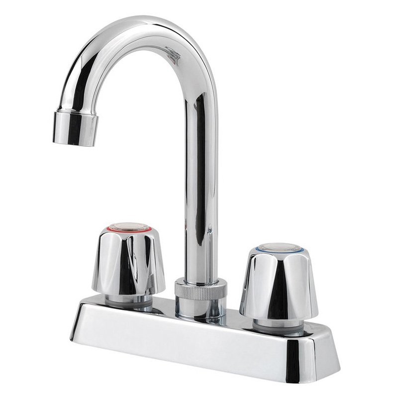 Pfister Pfirst Series 2-Handle Bar/Prep Kitchen Faucet in Polished Chrome