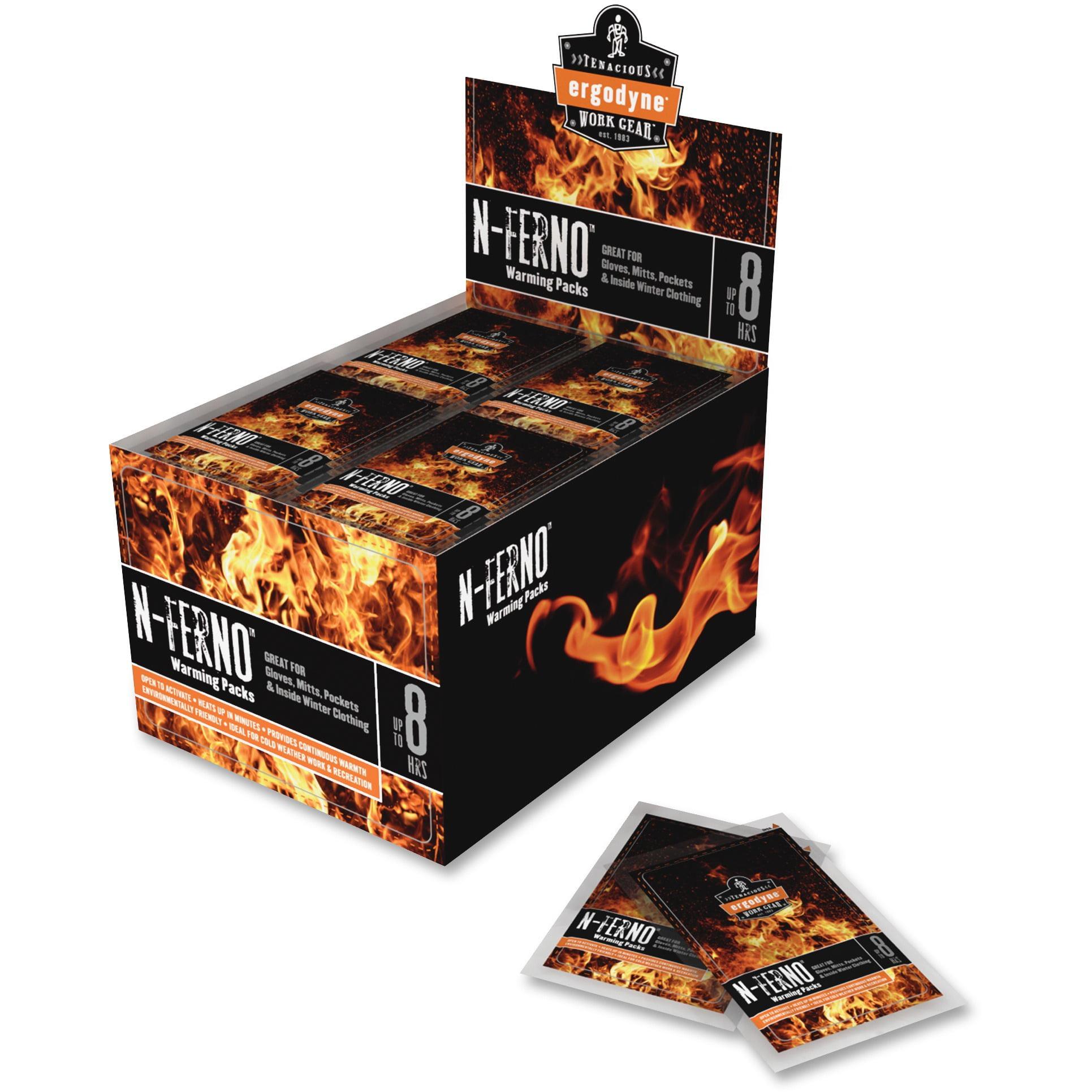 Ergodyne, EGO16990, N-Ferno Warming Packs, 80 / Box, White
