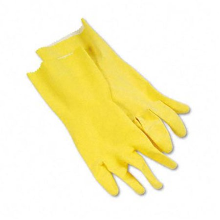 Flock-Lined Latex Cleaning Gloves  Large  Yellow  12 per Pack - image 1 de 1