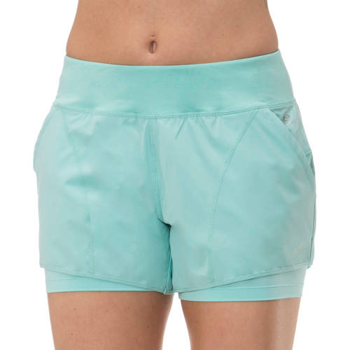 'Impact By Jillian Michaels Women's Active Stretch Woven Short with Built-in Compression Short
