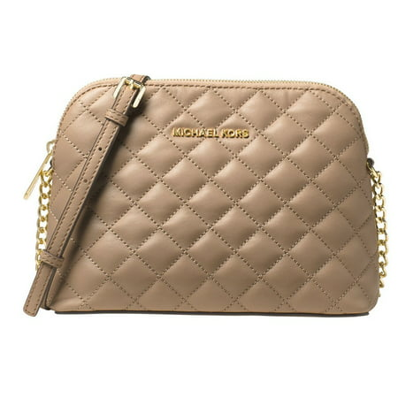 5ce3cae5209eb4 Michael Kors - Cindy Large Dome Crossbody Quilted Costa Lamb 18K - Bisque -  32T6GCPC7L-097 - Walmart.com