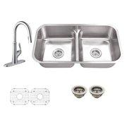 Schon SC1267550 Double Basin Undermount Kitchen Sink Set