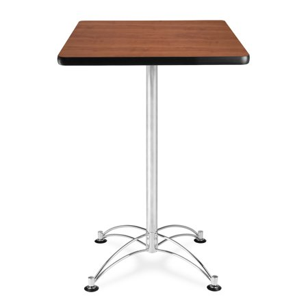 CCLT24SQ-CHY Restaurant Furniture 24 Inch Square Chrome Base Cherry laminate Top counter Height durable Café Table ()