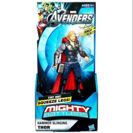 Marvel Avengers Mighty Battlers Hammer Slinging Thor ...