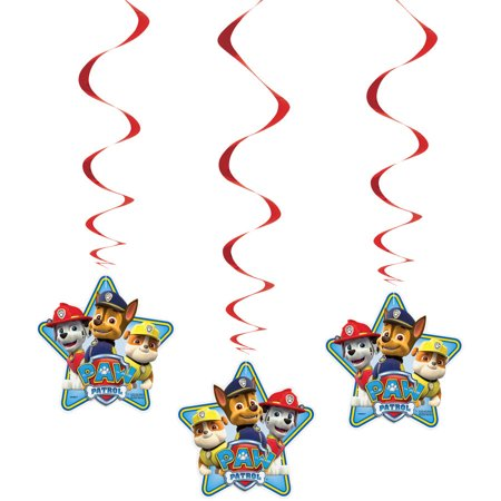 PAW Patrol Hanging Decorations, 26in, 3ct - Paw Patrol Decorations
