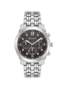 Bulova Men's Diamond Accent Chronograph Watch 96D136