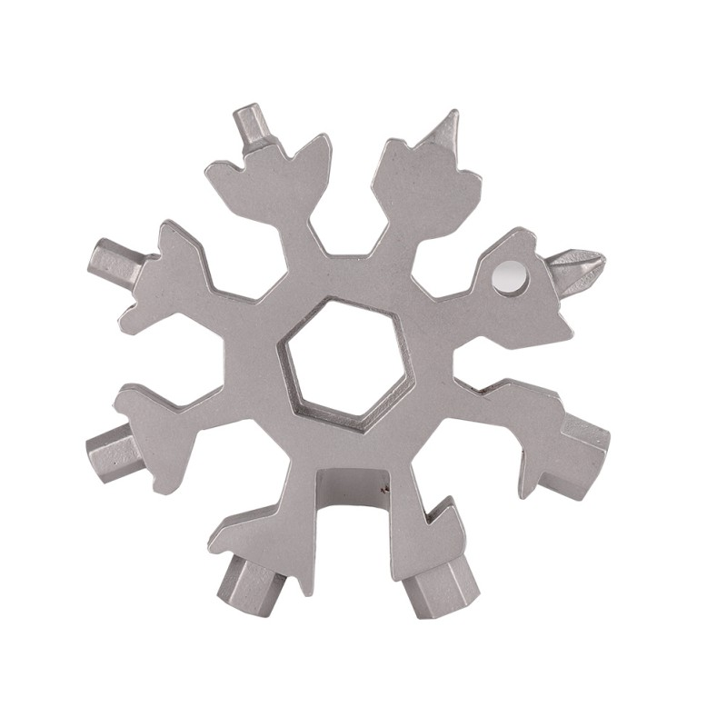 Nicesee Portable Multiple 18 in 1 Household Hand Tool Stainless Snowflake Multi-Tool