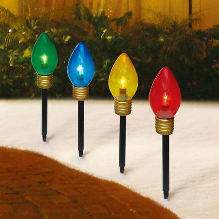 Holiday Time Christmas Lights Jumbo C9 Lighted Lawn Stake
