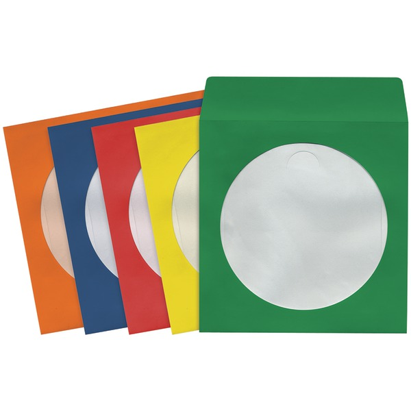 MAXELL 190132 - CD403 CD/DVD Storage Sleeves (100 pk; Colors)