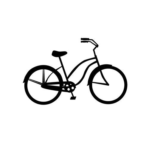 Dana Decals Tiny Bicycle Cruiser Bike Wall Decal (Set of 30)