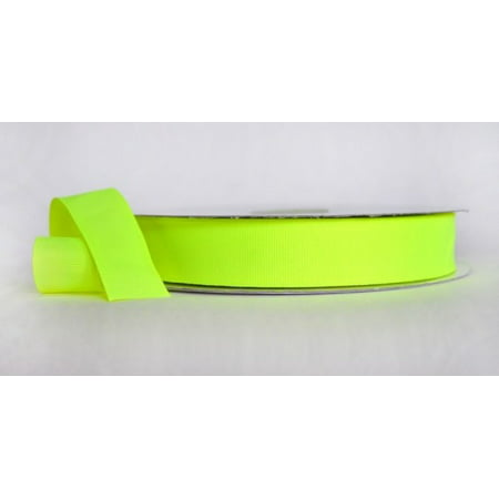 Ribbon Bazaar Neon Grosgrain 3/8 inch Yellow 50 yards 100% Polyester Ribbon - Yellow Ribbons