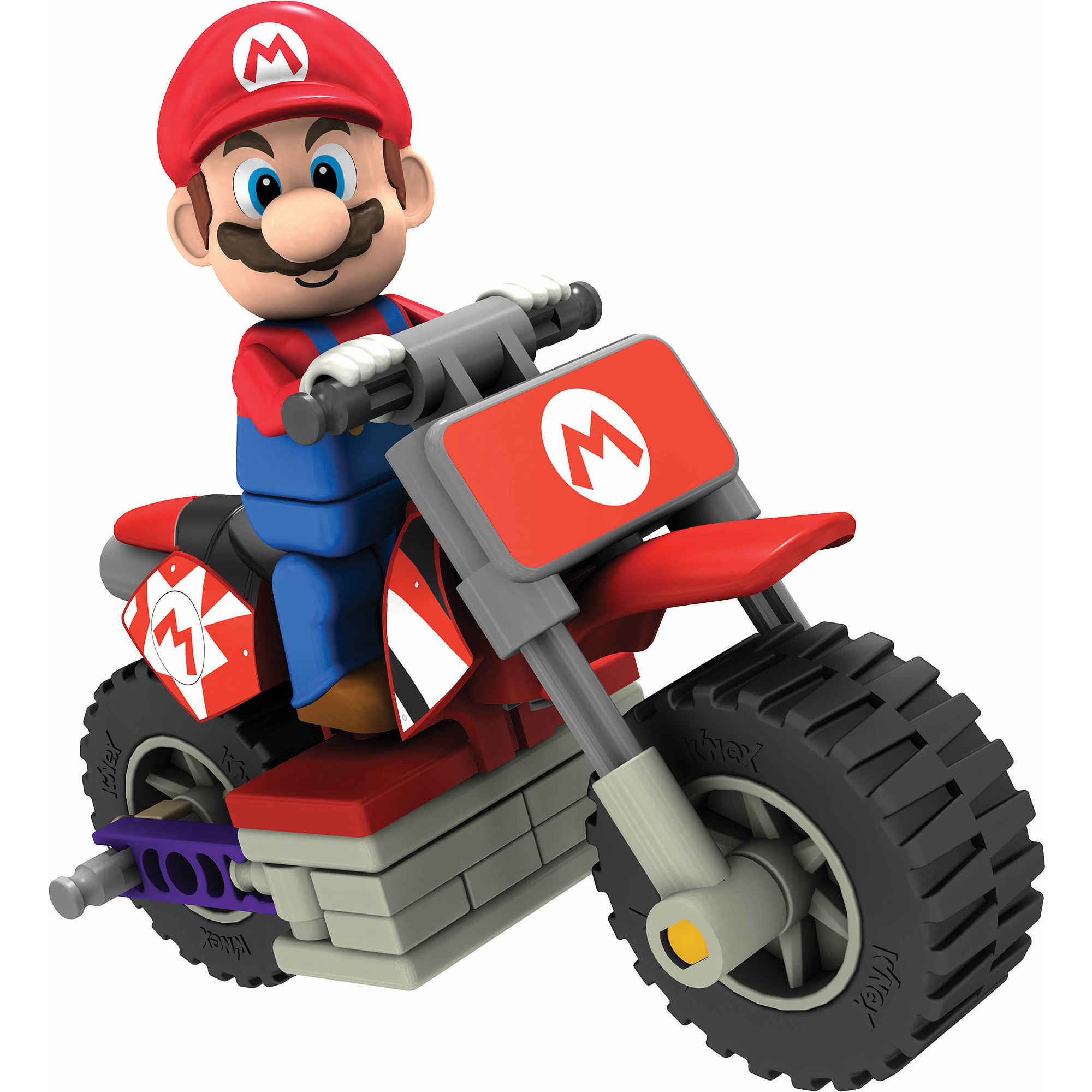 K'NEX Mario Kart Wii Building Set: Mario with Standard Bike