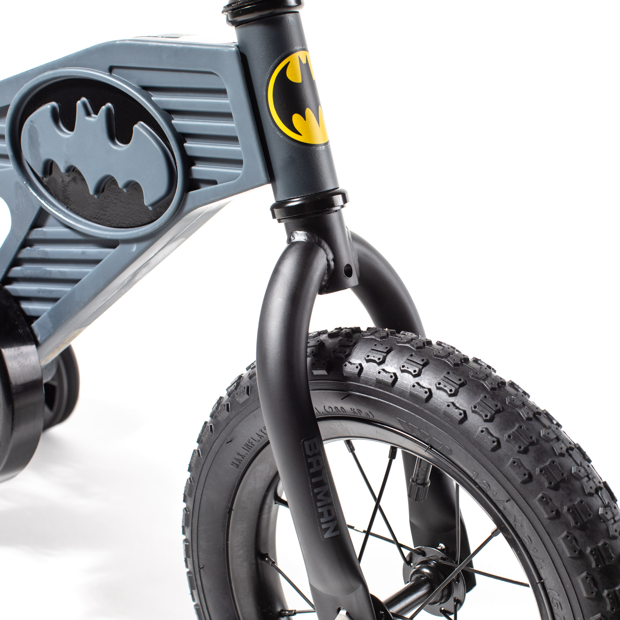 "Brand New Kids 12/"" Batman Boys Bike Training Wheels DC Comics Theme Design"