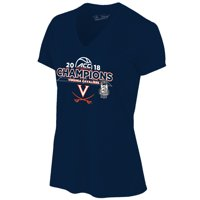 Virginia Cavaliers Women's 2018 ACC Men's Basketball Conference Tournament Champions Locker Room V-Neck T-Shirt - Navy