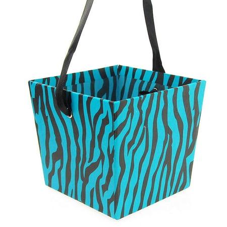 Paper Market Tray, Zebra, 4-inch x 5-inch, Turquoise ()