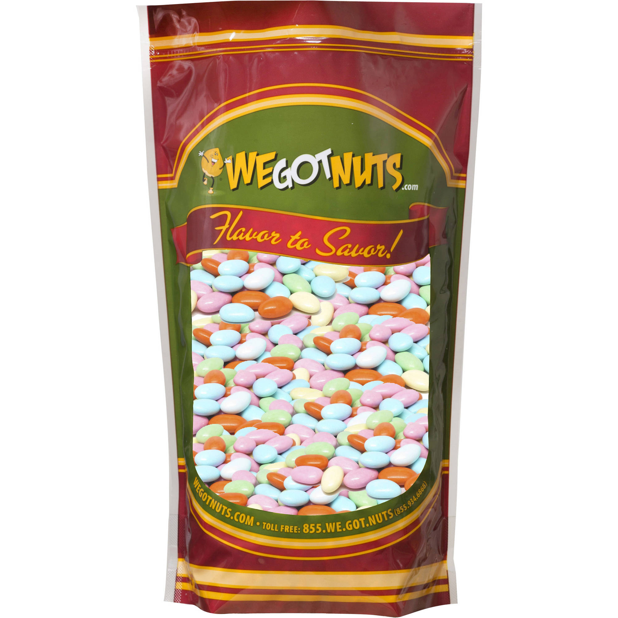 We Got Nuts Candy Coated Mixed Colors Jordan Almonds, 3 lbs