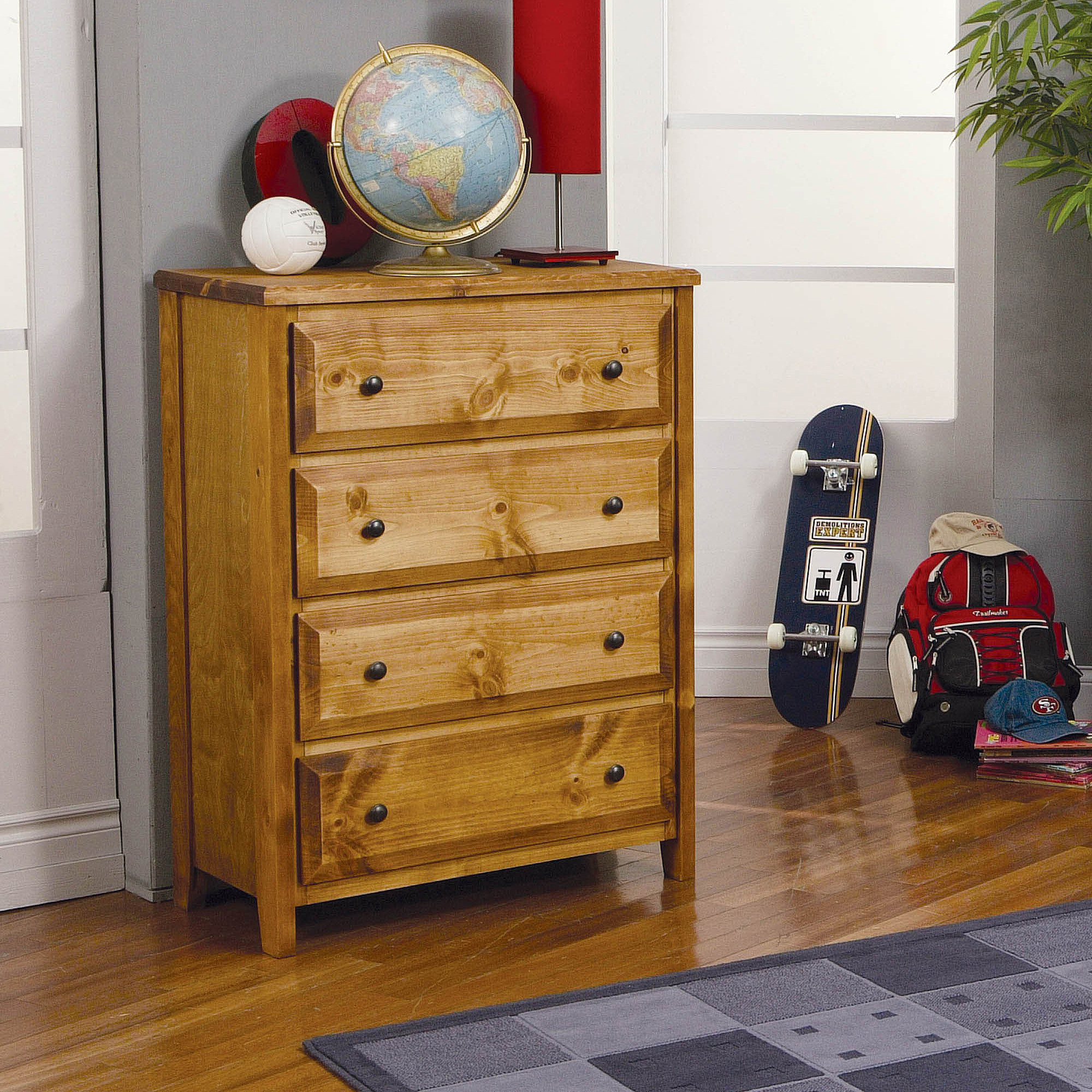 Coaster Wrangle Hill 4-Drawer Chest, Amber by Coaster of America