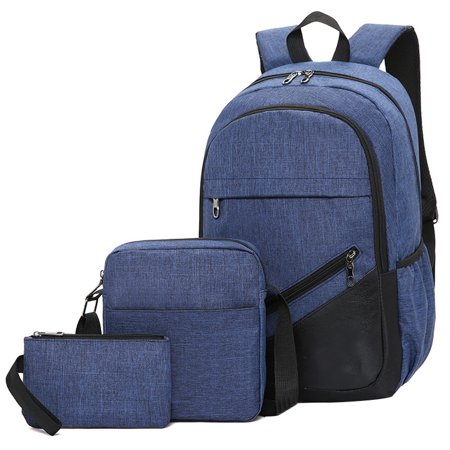 Bocgsfdfgns - Backpack 3-piece Business Computer Backpack leisure Travel  Bag For Men And Women High School Student Schoolbag - Walmart.com 04130ab83d142