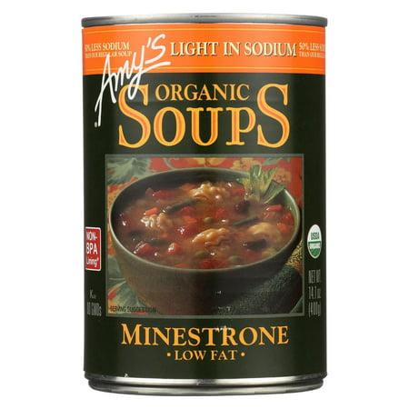 Amy's Organic Low Sodium Minestrone Soup - 14.1 Oz (Organic Minestrone)