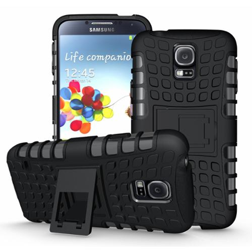 Minisuit Rugged Rubberized Case + Kickstand for Samsung Galaxy S5 (High Impact, Black)