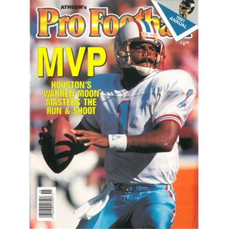 Athlon CTBL-012539 Warren Moon Unsigned Houston Oilers Sports 1991 NFL Pro Football Preview Magazine