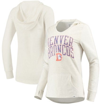 Denver Broncos NFL Pro Line by Fanatics Branded Women's True Classics Pullover Hoodie - Cream Denver Broncos Womens Sweatshirts