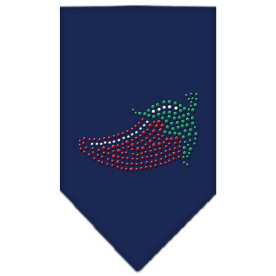 Chili Pepper Rhinestone Bandana Navy Blue large