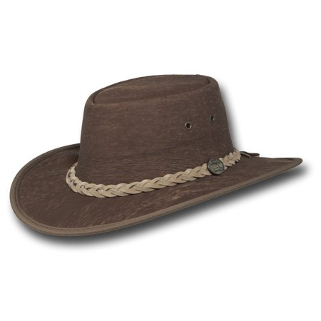 Barmah Hats Stonewash Kangaroo Leather Hat Item  1018