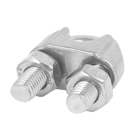 M12 304 Stainless Steel U-Shape Bolt Saddle Clamp Cable Wire Rope Clip