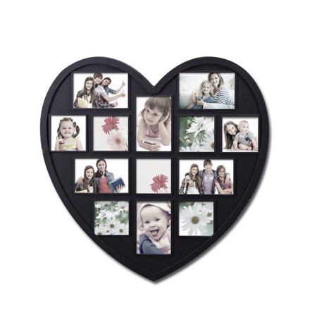 Adeco Trading 13 Opening Decorative Heart Shaped Wall Hanging