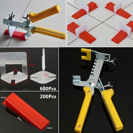 Leveling Spacer System Tool Clips & Wedges& Pliers Tool Tiling Flooring Set Home Tool