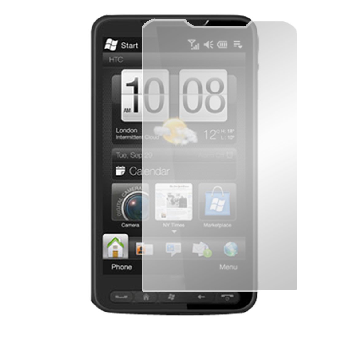 Unique Bargains Protective Clear Screen Film for HTC Touch HD2 T8588