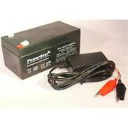 PowerStar PS12-3.3-F120005W 12V 3Ah SLA Battery Replaces BP3-12 BP3.6-12 CF12V2.6 CFM12V3 CP1232 Plus Charger