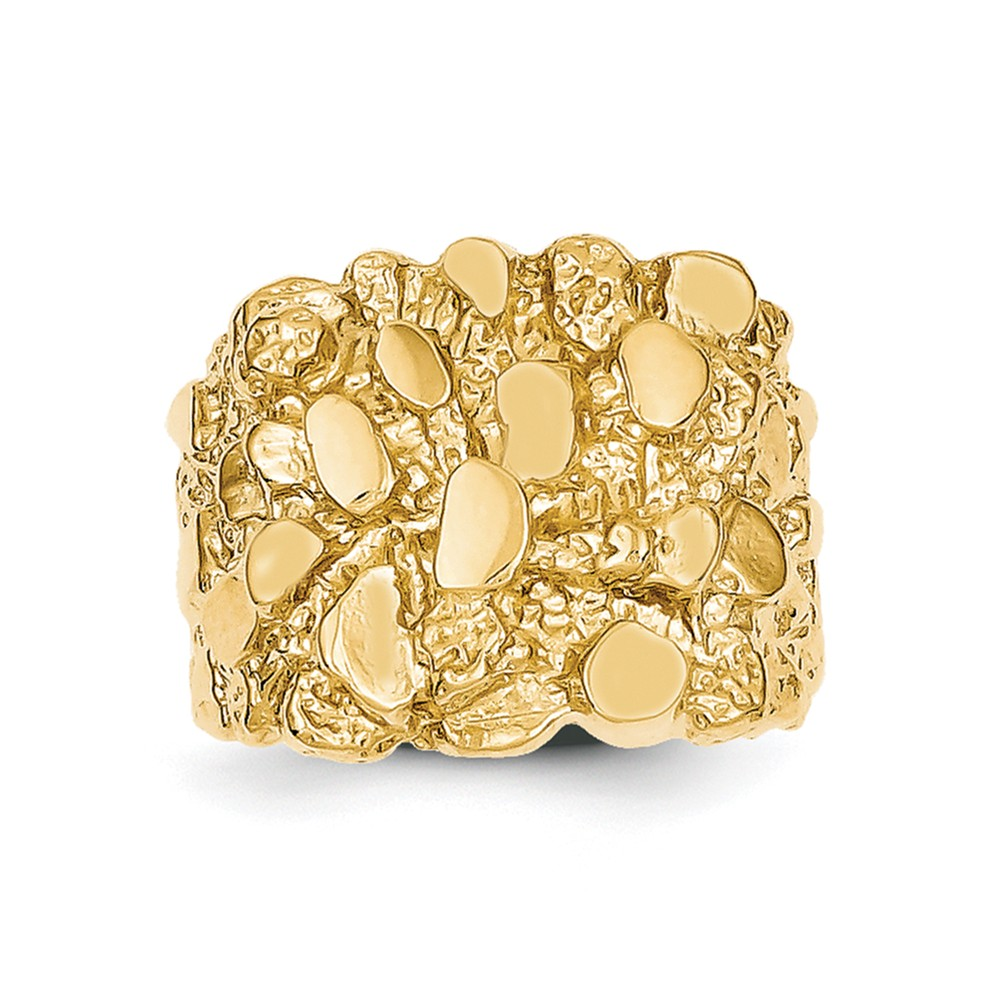 14k Yellow Gold Mens Nugget Ring Walmartcom
