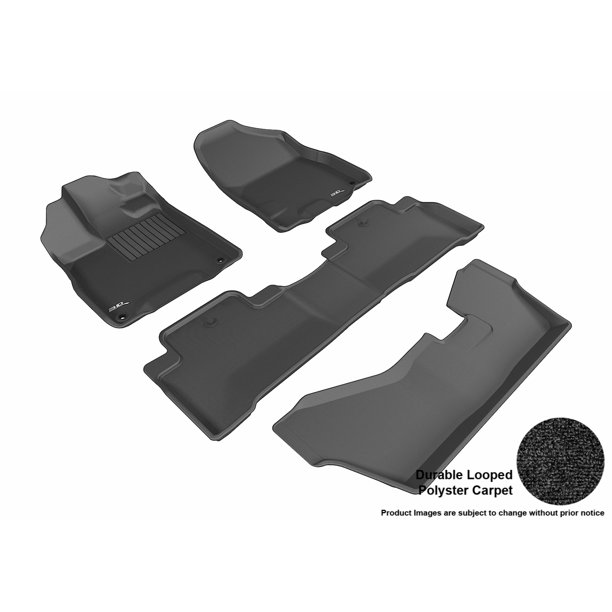 3D MAXpider 2014-2017 Acura MDX Front, Second, & Third Row