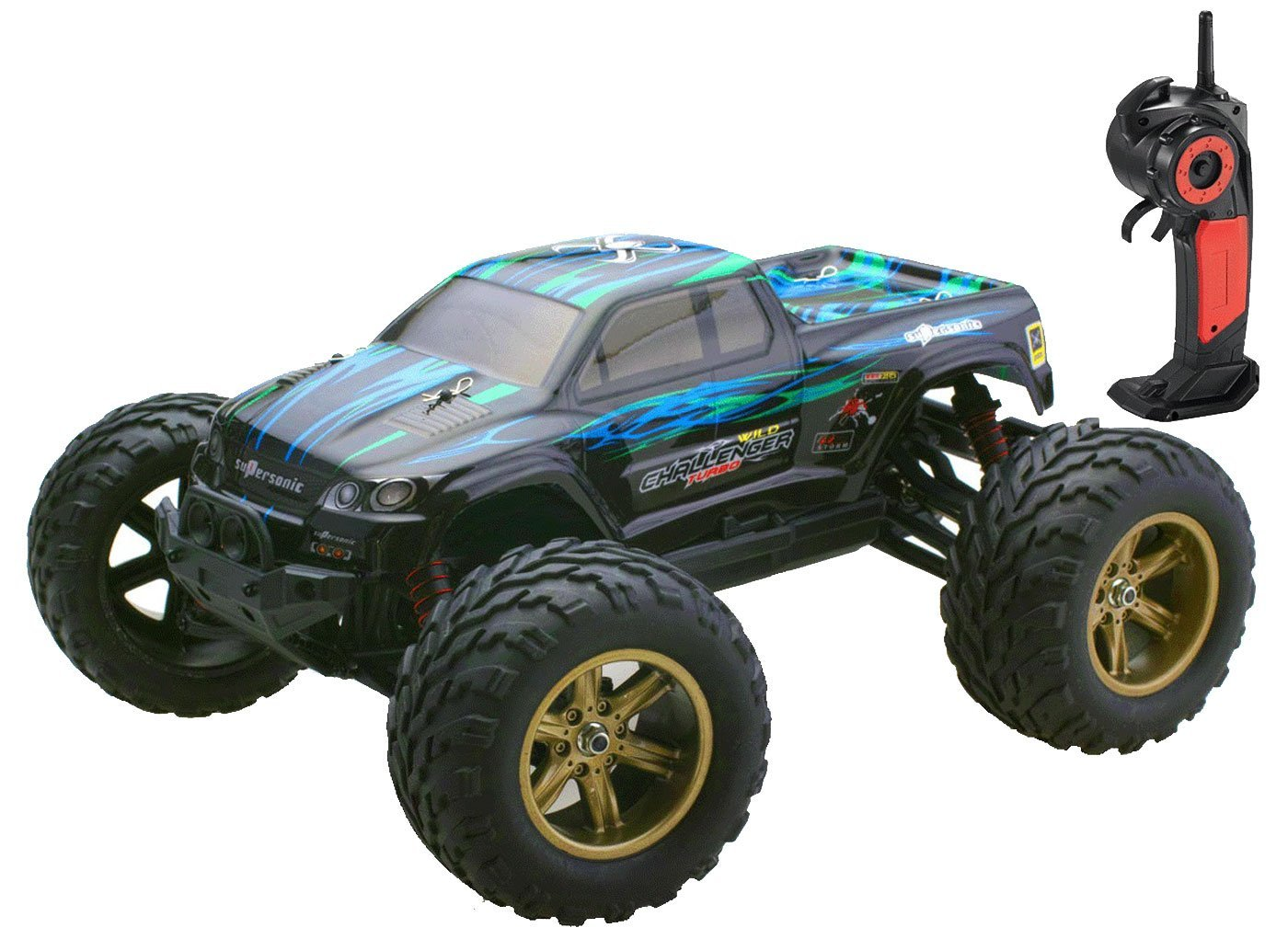 Bo Toys 1 12 Scale Electric RC Car Offroad 2.4Ghz 2WD High Speed 35 MPH Remote Controlled Truck Car by Bo-Toys